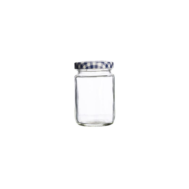 Kilner – Round Twist Top Blue Check Lid 93ml (Made in England)