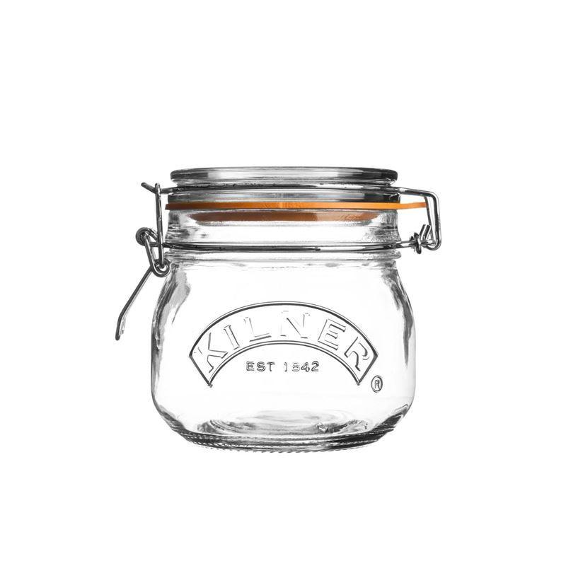 Kilner – Round Clip Top Glass Jar 500ml
