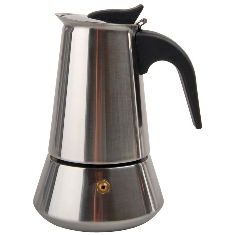 Tradizione Italiana by Benzer – Stella Stainless Steel Espresso Coffee Percolator 4 Cup