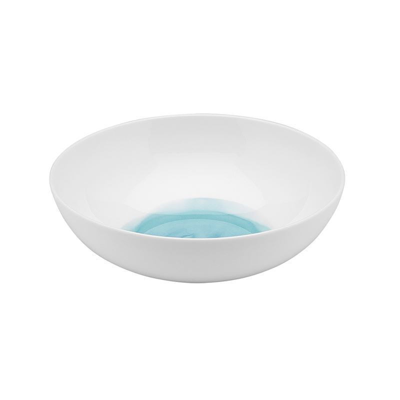 Ecology – Watercolour Cereal Bowl Aqua 18cm – Fine Bone China