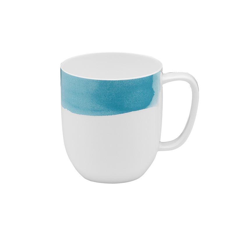 Ecology – Watercolour Mug Aqua 380ml – Fine Bone China