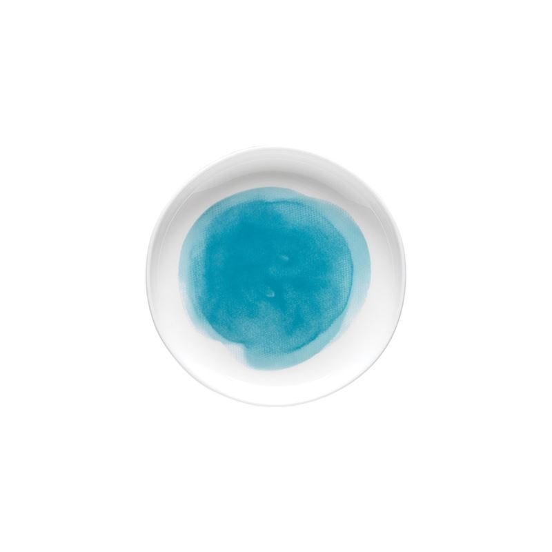 Ecology – Watercolour 10cm Coaster Aqua – Fine Bone China