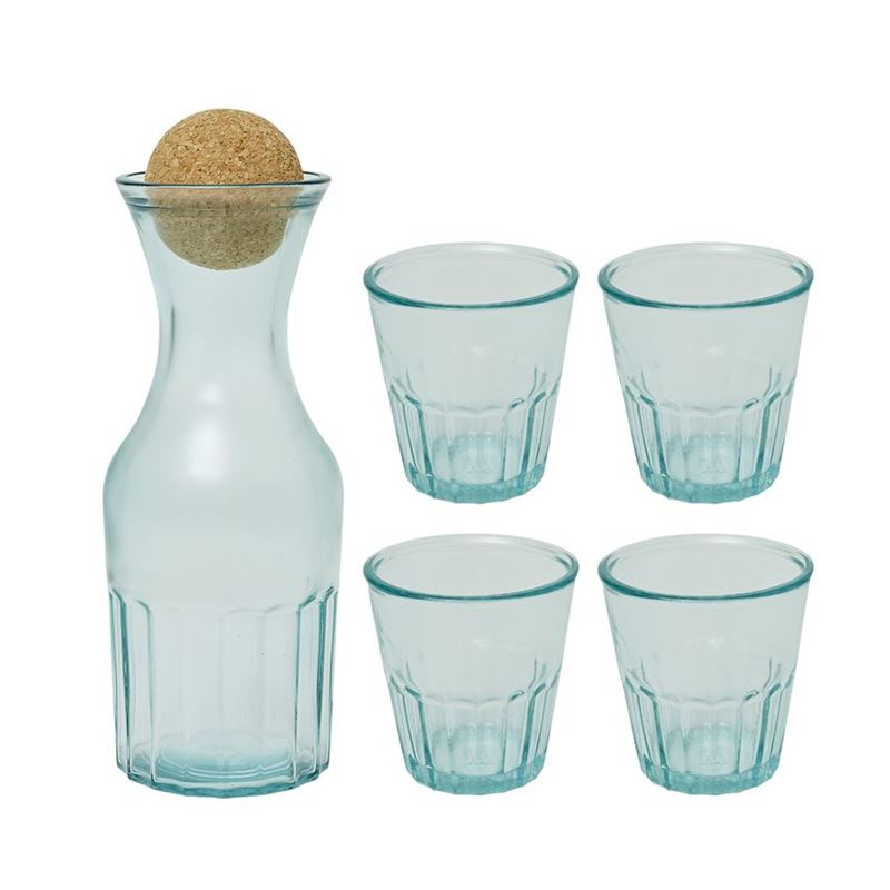 Jamie Oliver – Spanish Recycled Glass 5 Piece Carafe and Tumbler set (Made in Spain)