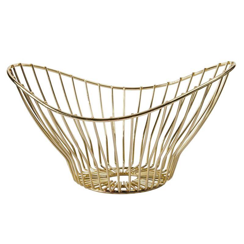 Zuhause – Wave Gold Bowl 25x22cm