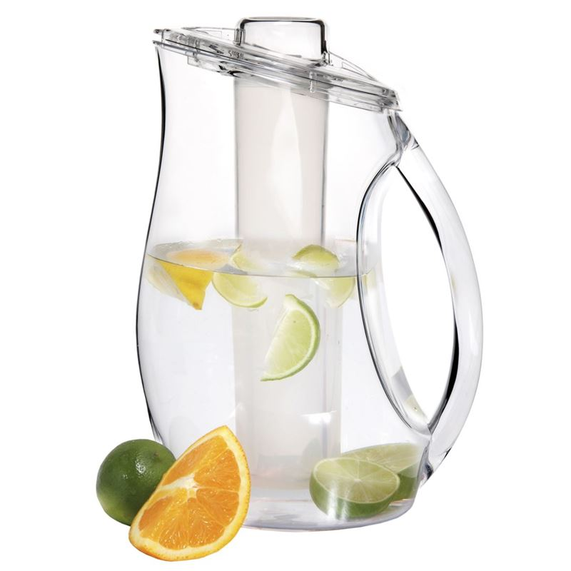 Zuhause – Wet Deck Newport Clear Pitcher with Ice Tube 2.8Ltr