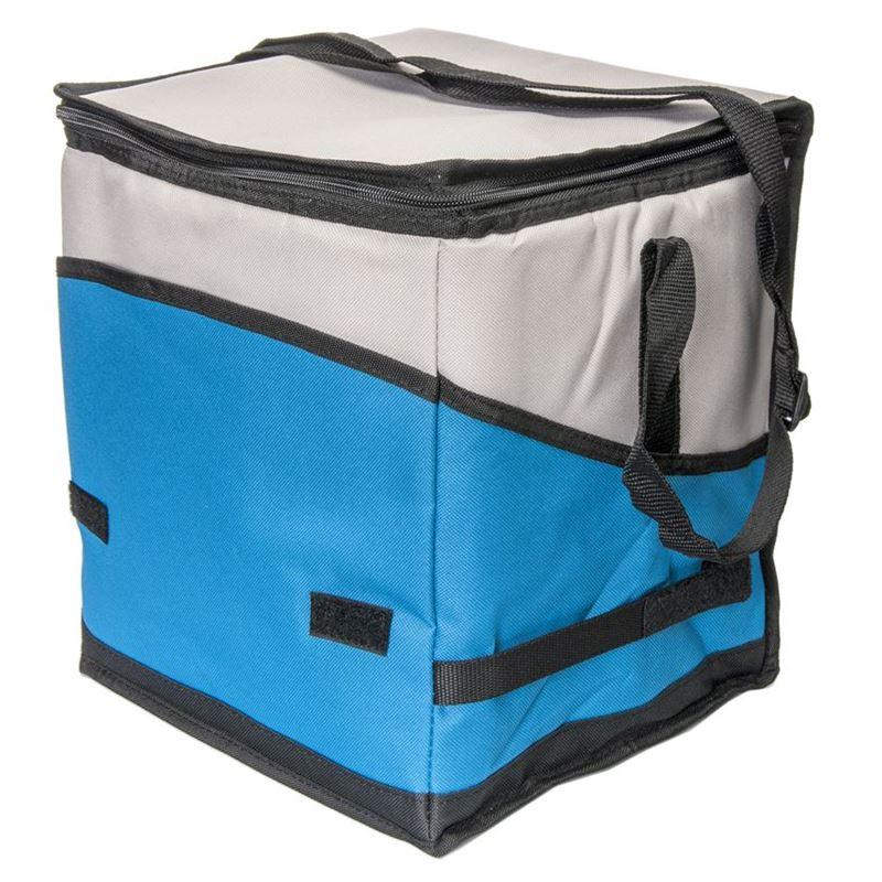 Zuhause – TomTom Collapsible Large Cooler Case with Shoulder Strap Blue