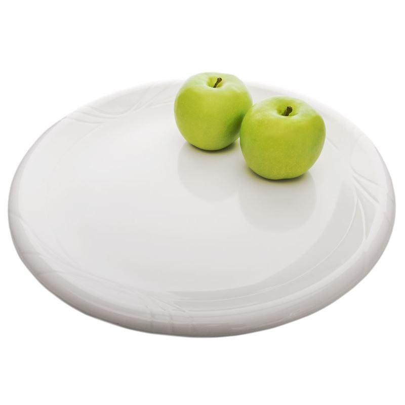 Benzer – Ice White Gina Rimmed Melamine X-Large Platter 37cm