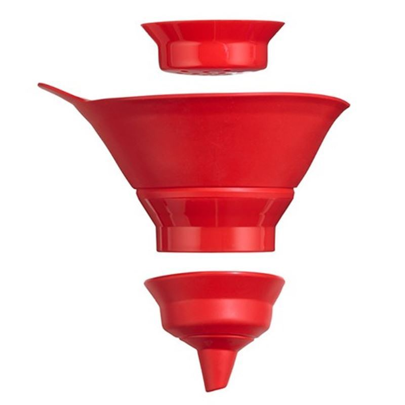 Edge Design – 3 in  2 Collapsible Funnel Set Red