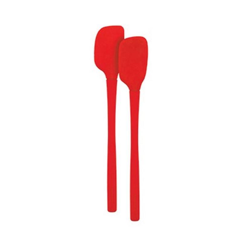 Tovolo – Flex-Core All Silicone Mini Spatula/Spoon Set of 2 Apple Red