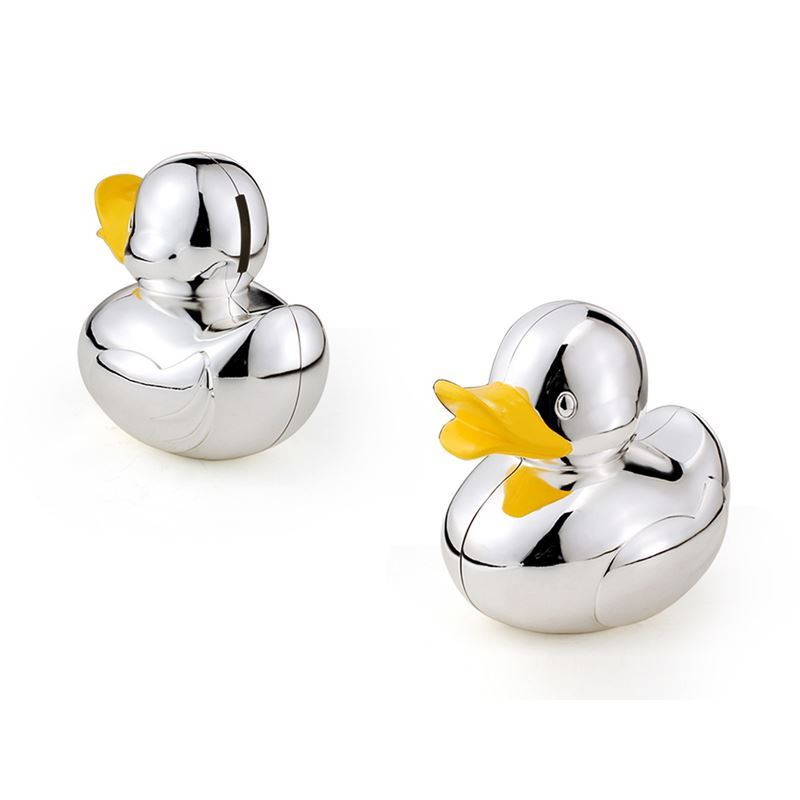 Whitehill – Silver Plated and Enamelled Duck Money Box 11.5x12cm