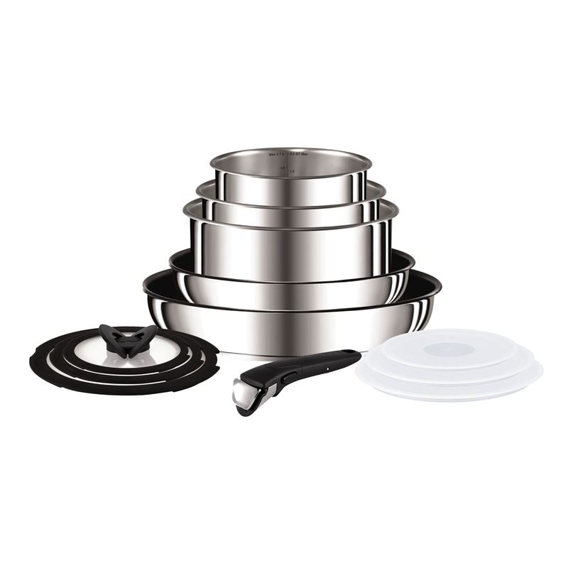 Tefal – Ingenio Preference Space Saving Stacking Stainless Steel and Non-Stick 13pc Cookware Set