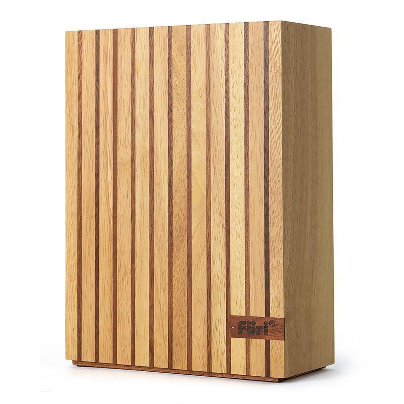Furi – 5 Slot Wood Knife Block – Empty