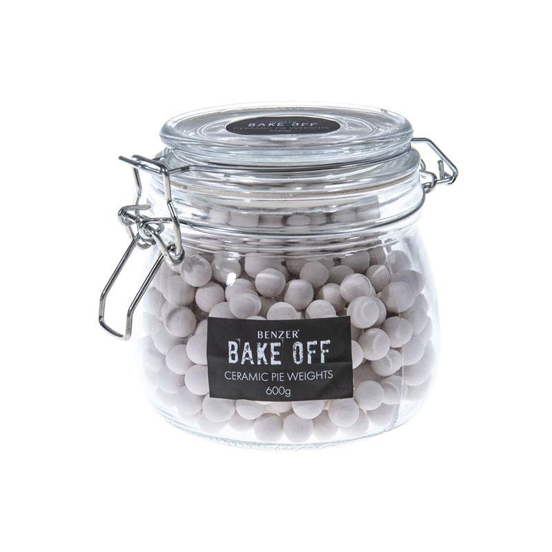 Benzer – Bake Off Ceramic Pie Weights in Glass Clip Top Jar 600g