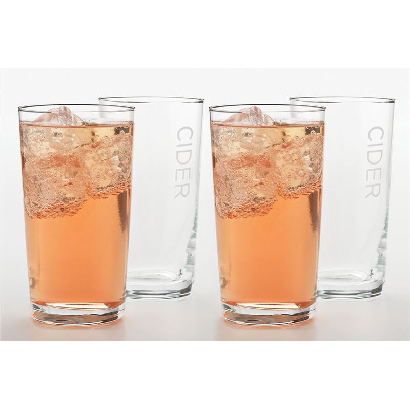 Ecology – Multi Purpose Large Tumbler 520ml Set of 4 with Cider Print (Made in Europe)
