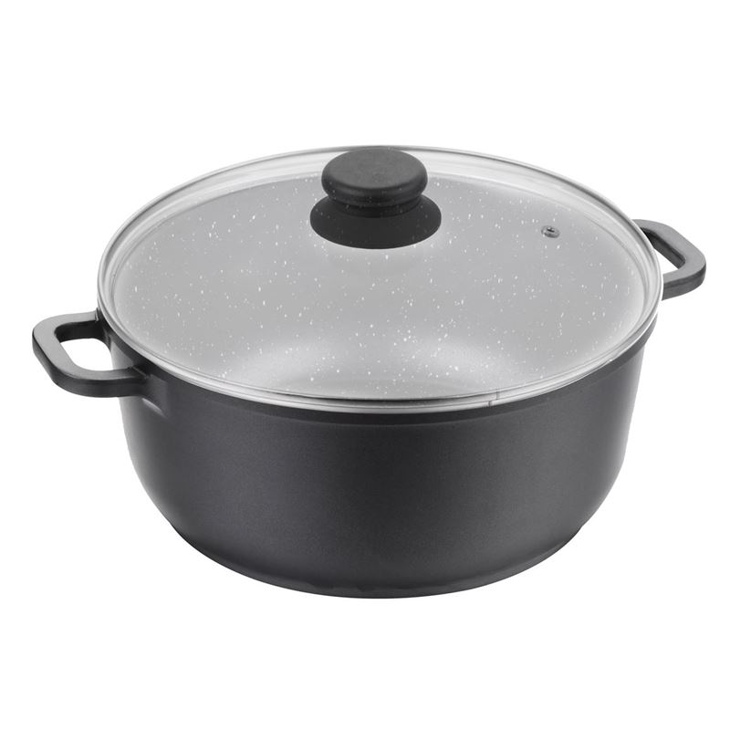 Benzer – Premium Stone Non-Stick Induction Tall Casserole with Lid 24cm 4Ltr
