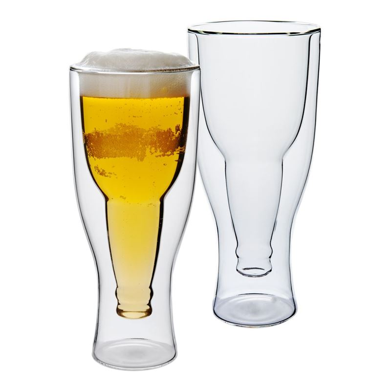 Zuhause – Beer Kraft Klassiks Double Wall 400ml Beer Glass Set of 2