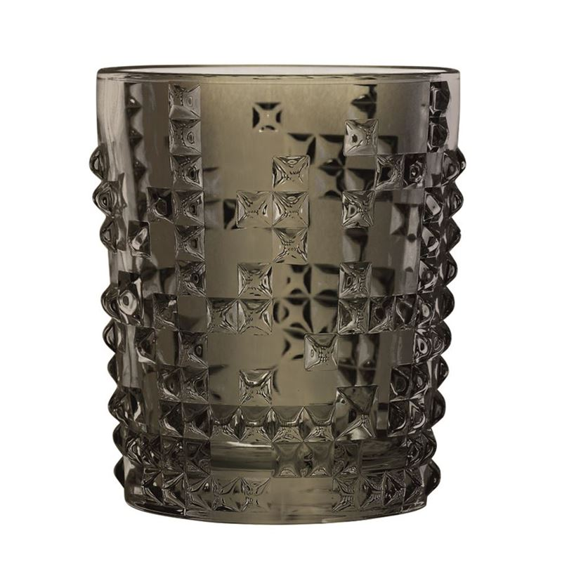 Nachtmann Crystal – Punk Whisky Tumbler Gun Metal 384ml (Made in Germany)