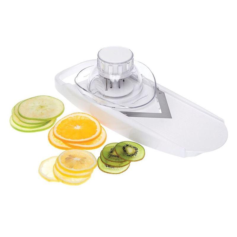 Salad Bar by Appetito – Dial a Slice Adjustable V- Shaped Vegetable Slicer