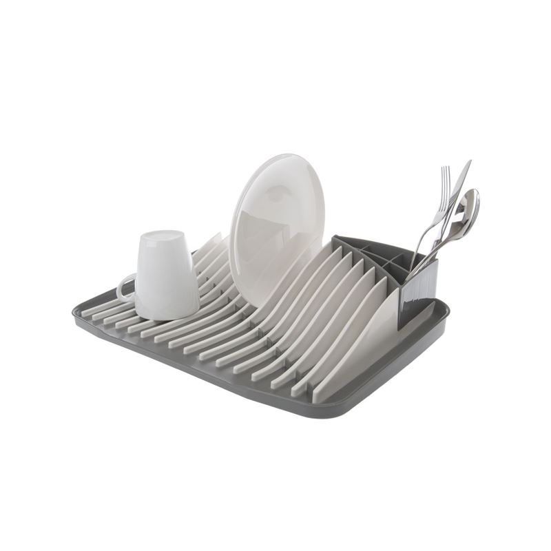Zuhause – Wave Dishrack with Cutlery Drainer 44x31x9cm