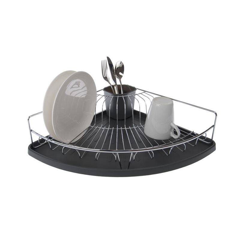 Zuhause – Korner Chrome Dishrack with Tray 37x37x11cm