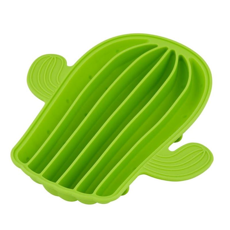 Giftworks – Cactus Ice Tray 22×14.5×5.5cm Green