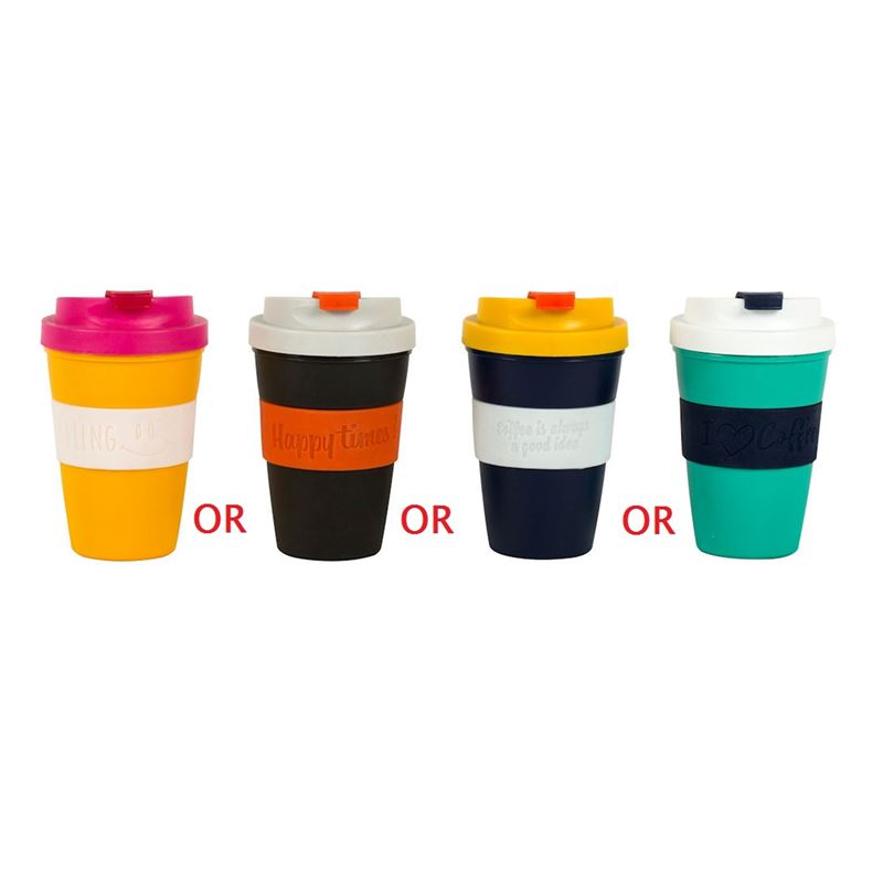 Giftworks – Cheerful Reusable Coffee Cup Assorted 350ml