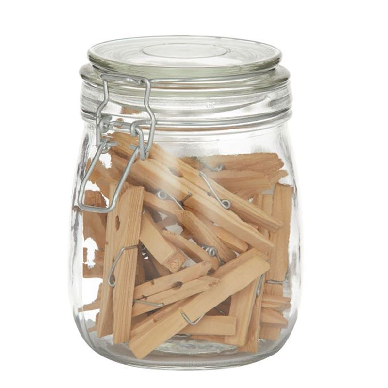 Pantry – Wooden Pegs in Jar set of 30