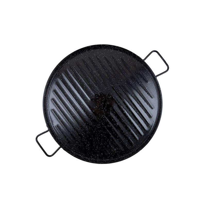 Garcima – Enamelled Griddle 46cm Black (Made in Spain)