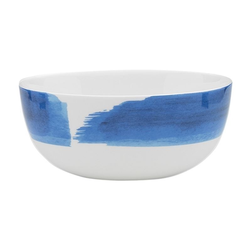 Ecology – Watercolour Noodle Bowl Ocean Blue 16cm – Fine Bone China