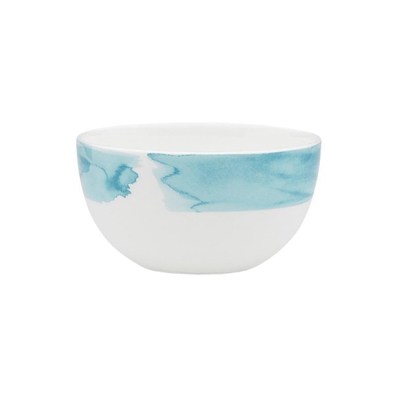 Ecology – Watercolour Rice Bowl Aqua 10cm – Fine Bone China