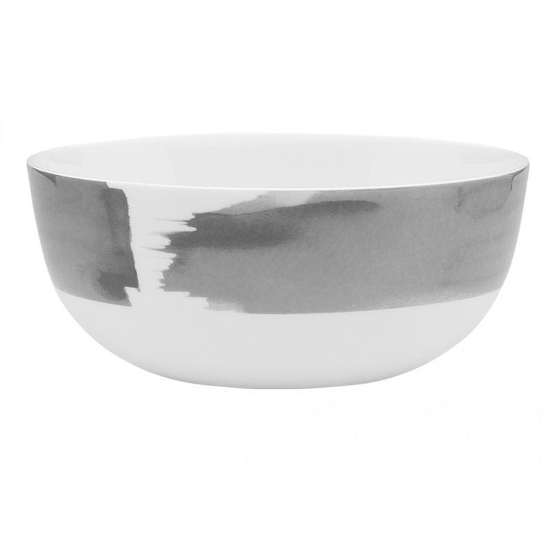 Ecology – Watercolour Noodle Bowl Smoke 16cm – Fine Bone China