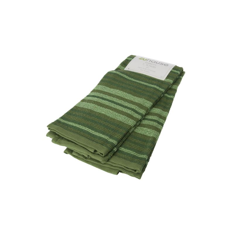 Zuhause – Marchelli Thirsty Tea Towel 40x66cm Olive Set of 2