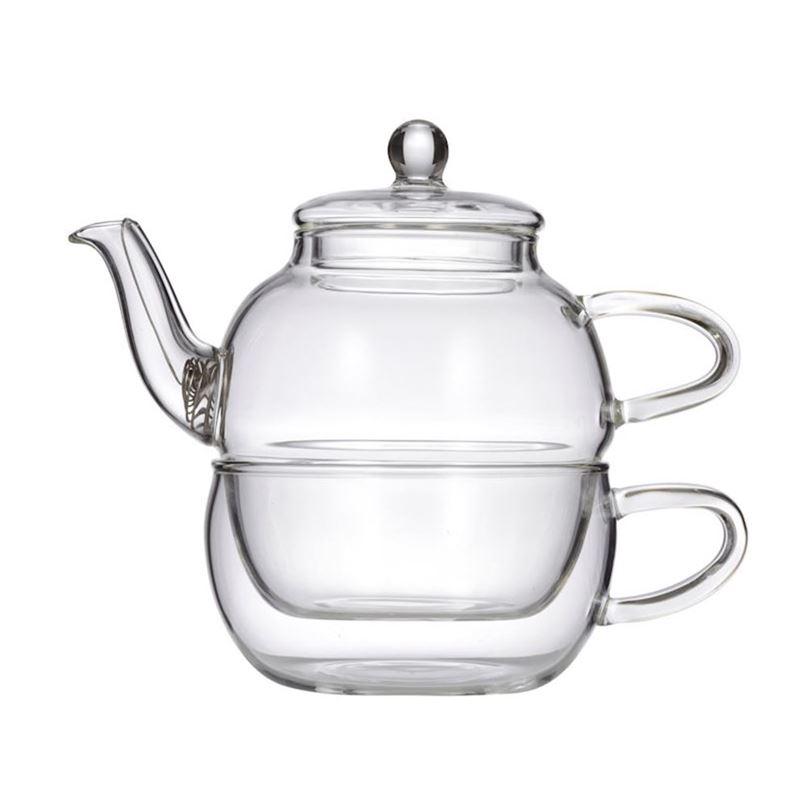 Davis & Waddell Leaf & Bean – Chrysanthemum Glass Tea for One