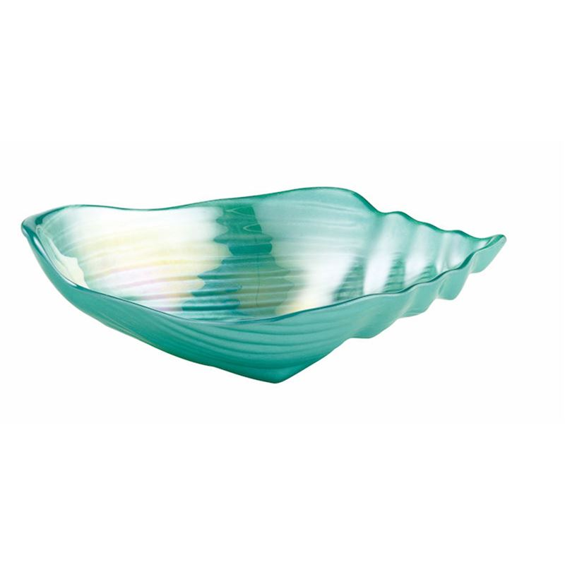 Anya – Conch Bowl 23x14cm Teal Lustre (Made in Turkey)