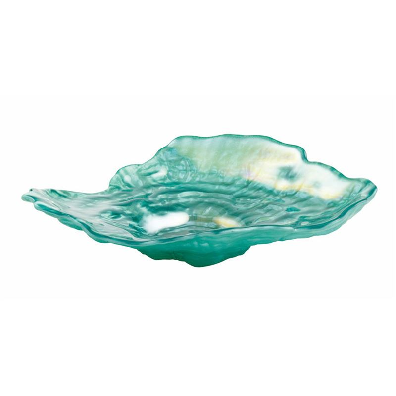 Anya – Oyster Platter Teal Lustre 23x18cm (Made in Turkey)