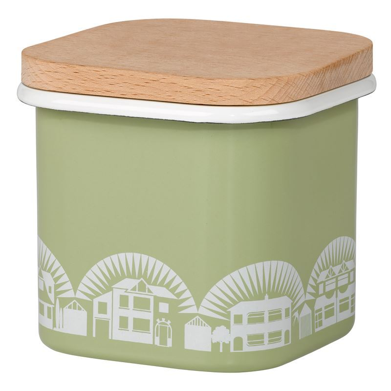 Mini Moderns – Enamel Lichen Green Storage Pot Small 700ml