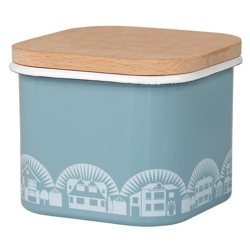 Mini Moderns – Enamel Chalkhill Blue Storage Pot Large 1.5Ltr