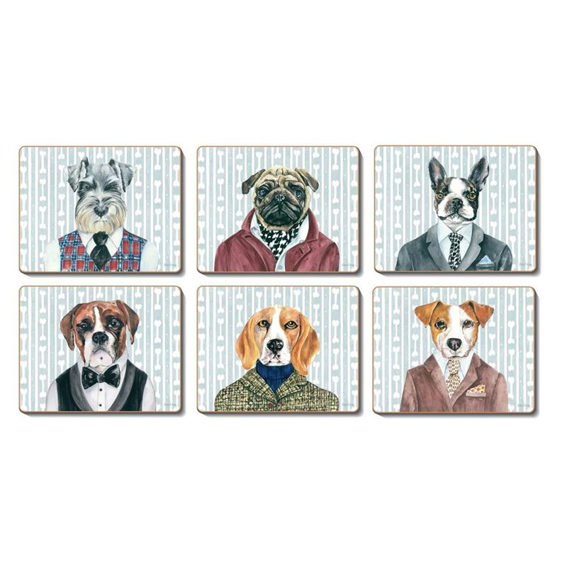 Cinnamon – Dogs Dinner Coaster 11×9.5cm Set of 6