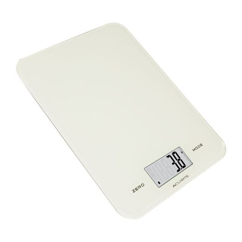 Acu-rite – Large Slimline Electronic Kitchen Scales White 8kg in 1g increments