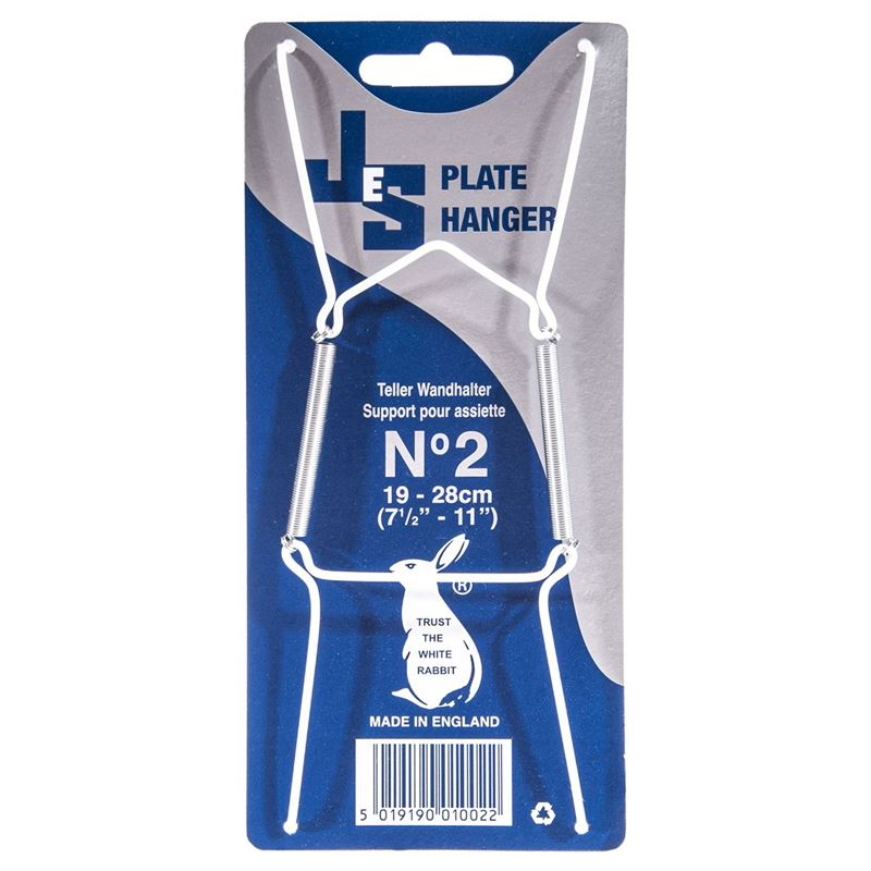 JeS – Plate Hanger 2 Large White (Made in England)