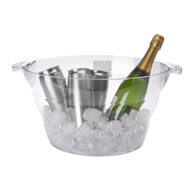 Zuhause – Partii Jumbo Clear Acrylic Oval Drinks Tub 13Ltr