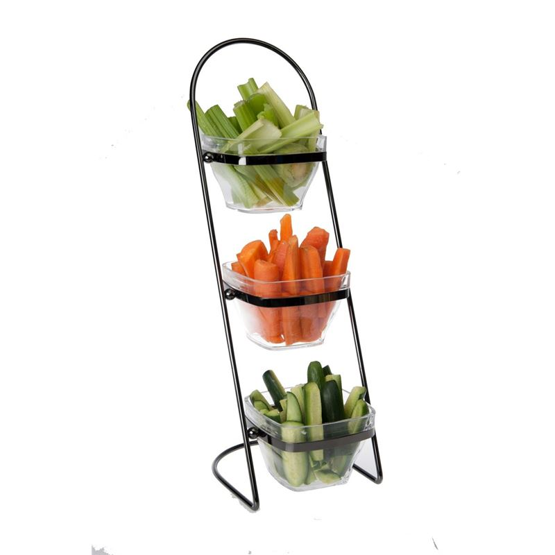 Zuhause – Partii 3 Tier Acrylic Snack Bowls with Stand