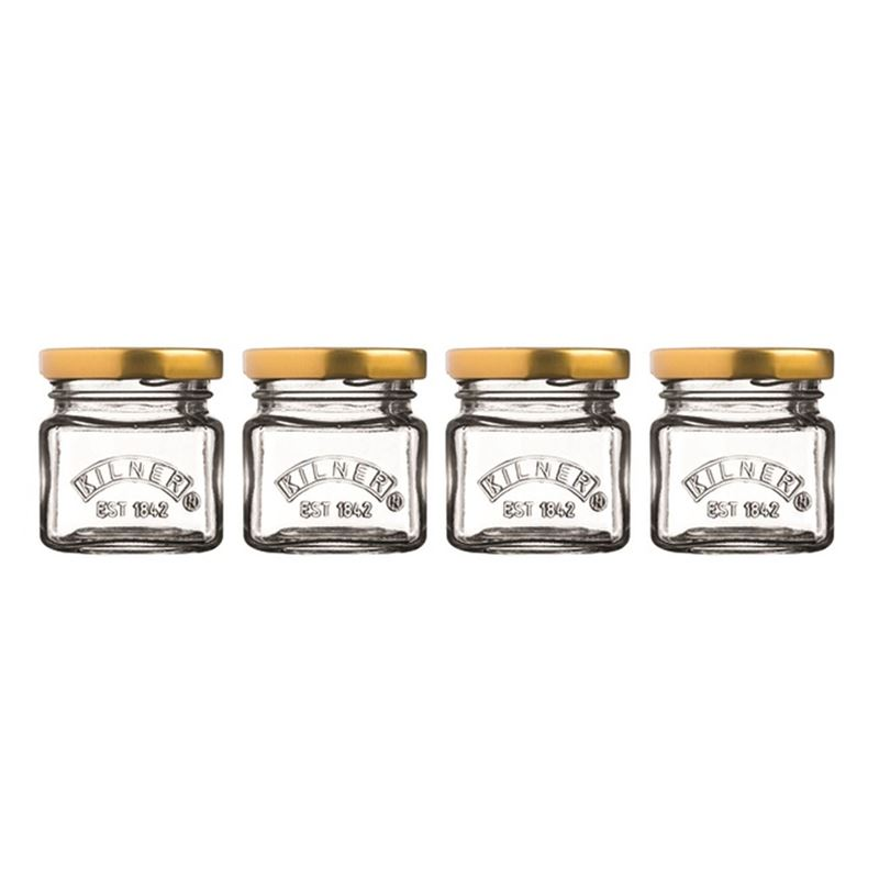 Kilner – Mini Screw top Jars 55ml Set of 4
