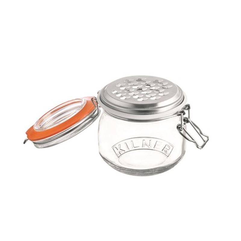 Kilner – Clip Storage Jar with Grater Lid 500ml