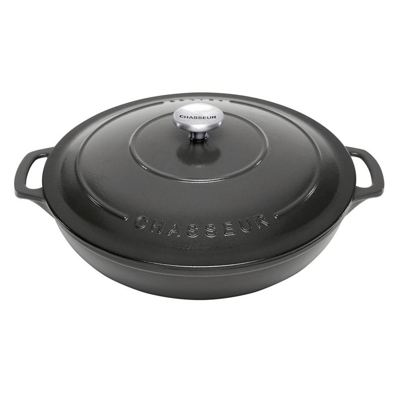 Chasseur Cast Iron – Caviar Round Casserole 30cm/2.5ltr (Made in France)