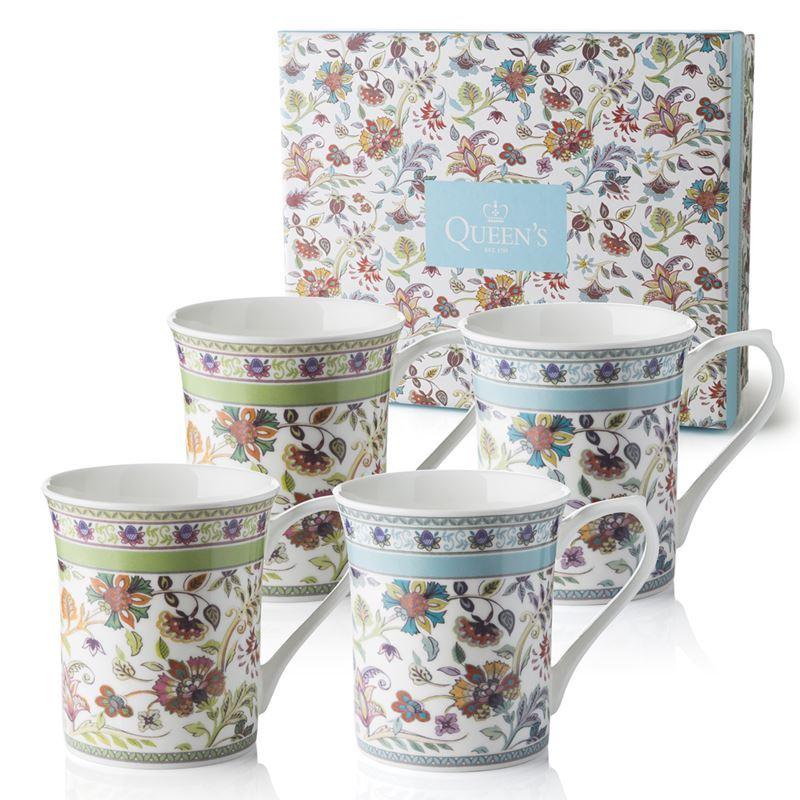 Queens – Antique Floral Mug 220ml Set of 4