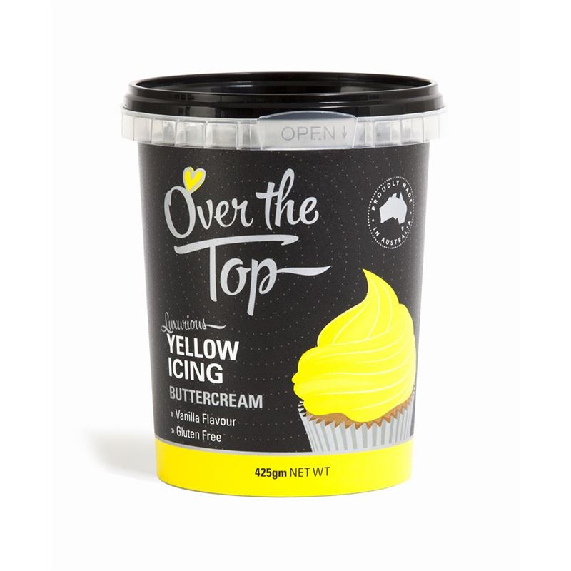 Over the Top – Ready Made Buttercream Yellow 425g