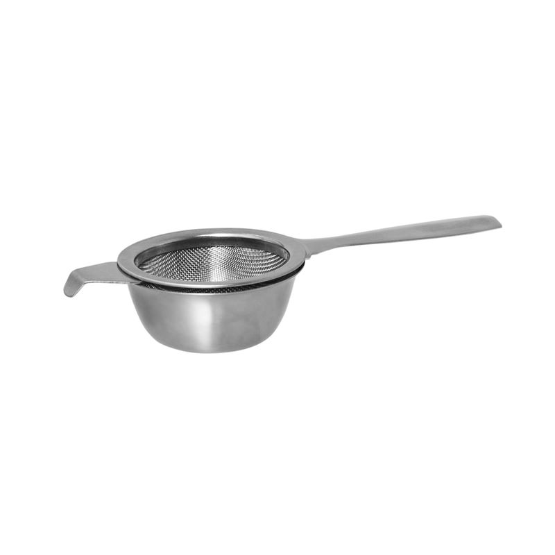 Avanti – Mesh Stainless Steel Tea Strainer with Handle and Drip Bowl