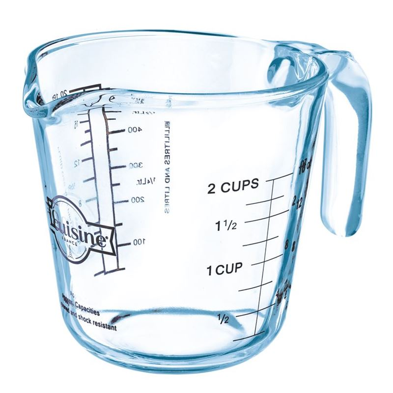 O'Cuisine – Glass Measuring Jug 2 Cup 500ml (Made in France)