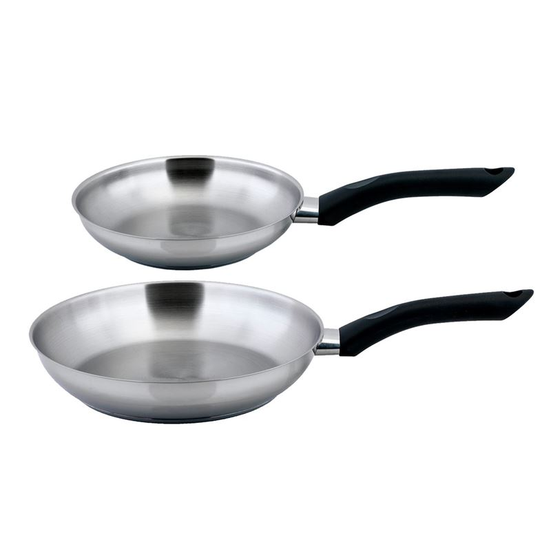 Benzer – Rosti 18/10 Stainless Steel Frypan Twin Pack 20+26cm